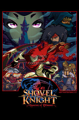 rgc huge poster shovel knight specter poster ps4 nintendo switch 3ds ext725 ebay