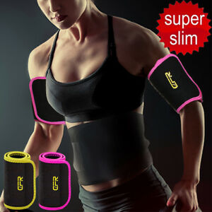 details about neoprene sweat sauna body shaper arm slimmer arm wraps thermo trainer sleeves lc