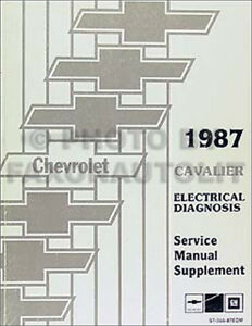 1987 Chevy Cavalier Electrical Diagnosis Service Manual Wiring Diagram Book 87 | eBay