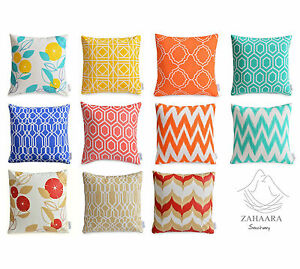 details about waterproof outdoor cushion covers colourful floral geometric patio pillow cases
