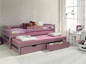 Image Is Loading Single Bed With Pull Out Guest 2in1