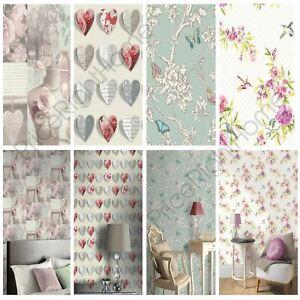 details sur shabby chic floral papier peint dans divers designs wall decor neuf gratuit p p afficher le titre d origine