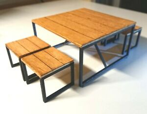 Animal Crossing ironwood mini dining table and chairs, 1 ... on Ironwood Furniture Animal Crossing  id=82222