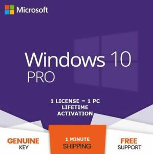 INSTANT WINDOWS 10 PROFESSIONAL PRO 32 | 64 BIT GENUINE ACTIVATION KEY LICENSE