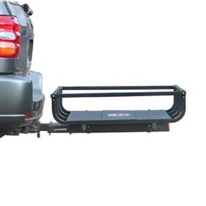 details about trailer hitch cargo carrier gearcage fp 4 slide out hitch rack mounts 2 receiver