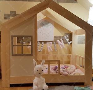 details zu lit cabane lit pour enfants lit d enfant lit cabane avec barriere ttiroir