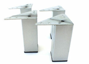 details about 4x tubular square metal chrome furniture legs feet sofas chairs stools bt sl011