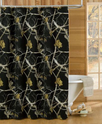 realtree ap black camouflage shower curtain camo bathroom accessories