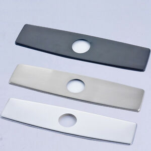 details about 10 bathroom kitchen sink faucet hole cover deck plate 3 hole cover cap brass