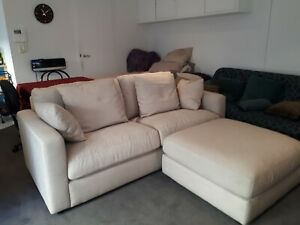 details about brand new 2 1 2 seater freedom furniture benson sofa and ottoman