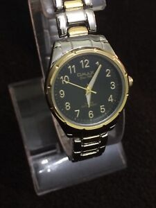 qmax Since 1946 watch Ladies Quartz Black Face Gold Dail ...