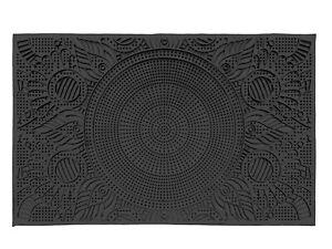details sur tapis de sol caoutchouc porte d entree interieure exterieure paillasson noir