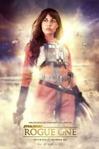 details about 025 star wars rogue one felicity jones 2016 action movie 24 x36 poster