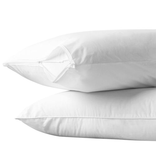 kindermobel wohnen 2 white hotel hypoallergenic pillow case zippered bed bug mite protector covers mobel wohnen elite eshop eu