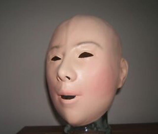 Image Is Loading Latex Female Mask Larger Mouth Fancy Dress Pvc