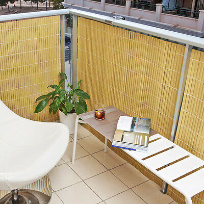 balcony screening or privacy screen artificial bamboo cane fence 1m x 4m long 5056095700436 ebay