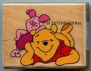 Hello ~ Pooh & Piglet Disney Wood Mount Rubber Stamp ...