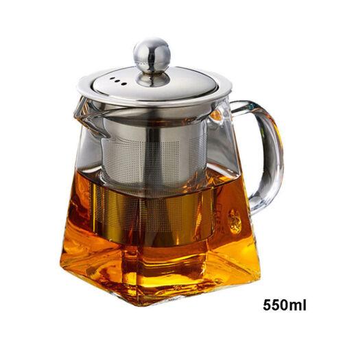 resistant a la chaleur verre transparent theiere avec infuseur coffee tea leaf herbal pot cadeau