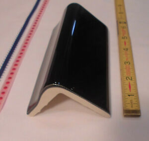 details about 1 pc gloss black v cap ceramic trim tile counter top edging new stock