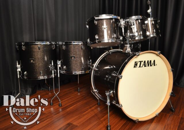 TAMA Superstar Ck Maple 7pc Drum Set Complete Midnight Gold Sparkle     Tama drums set Superstar Classic Maple Midnight Gold Sparkle 7 piece kit NEW