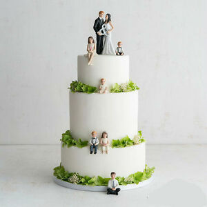 Children Figurines Blended Family Wedding Cake Topper   eBay Image is loading Children Figurines Blended Family Wedding Cake Topper