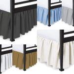 Black Ruffled Bedskirt 180 Tc 14 Drop King Size For Sale Online Ebay