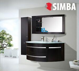 Meuble Salle De Bain Vasque Luxe Beau Meuble Lavabo 120 Cm Black Ambassador Ebay