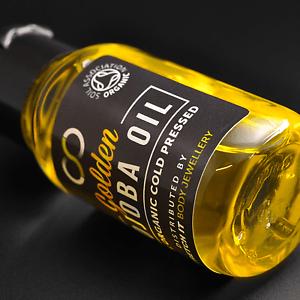 Biologische Goldener Jojobaöl Sibj ™ für Gedehnte Lappen & Piercings 30ml/1 OZ