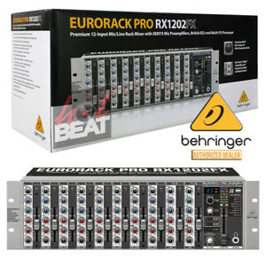 details about behringer rx1202fx rack mount 12 channel line and microphone mixer with effects