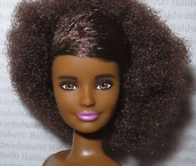 Image Is Loading B Nude Barbie Petite Brunette Afro Aa Skipper