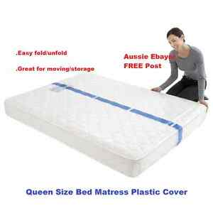 Image Is Loading Queen Size Bed Mattress Protector Plastic Protection Cover