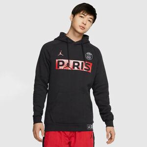 details about air jordan paris saint germain fleece hoodie black university red small