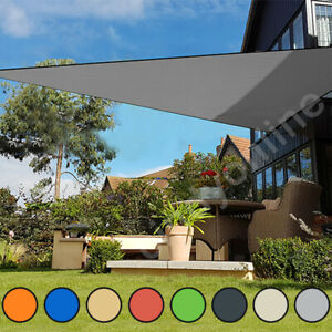 details about sun shade sail garden patio party sunscreen awning canopy 98 uv block triangle