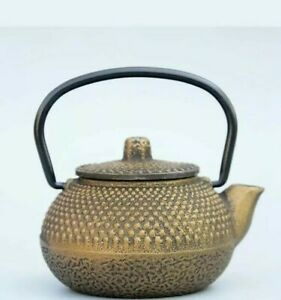 Collectable China Old Bronze Hand-Carved Tea Pot