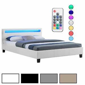 sommier 140x190cm tete de lit avec led