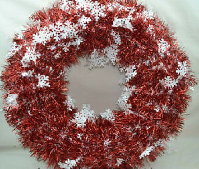 Image Is Loading Darice Christmas Artificial Diy Wreath Metallic Tinsel Garland