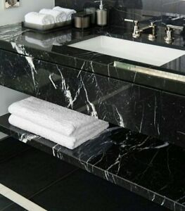 details about nero marquina black marble tile polished 12 x24 x1 2