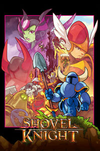 details about rgc huge poster shovel knight poster ps4 nintendo switch 3ds glossy nvg270