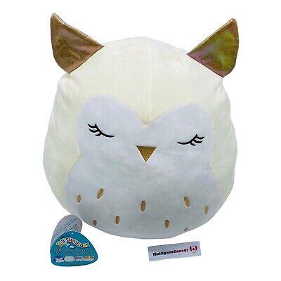 squishmallow 16 vee the owl cream white plush pillow canadian costco exclusive 734689159321 ebay