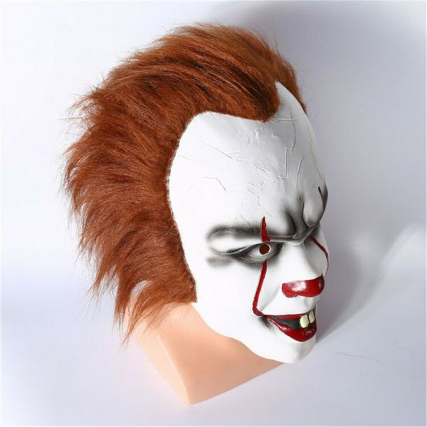 Halloween Cosplay Scary Mask Costume Movie Stephen King's IT Clown Pennywise  2