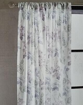 dkny watercolor leaves purple tan gray white rod pocket window curtain panels 96 ebay