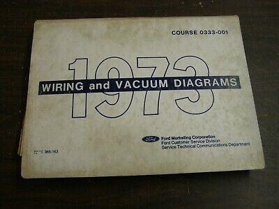 vintage car  truck parts oem ford 1969 wiring diagram book