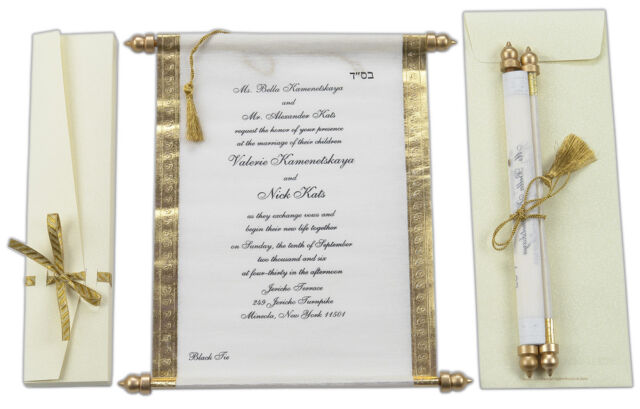 Wedding Party Card Scroll Invitations Scrolls Cards