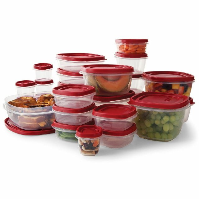 Rubbermaid Easy Find Lid BPA-FREE Plastic Food Storage Containers Set 50 Pc 2