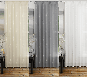Image Is Loading Analise Luxury Voile Curtain Panel Net Curtains