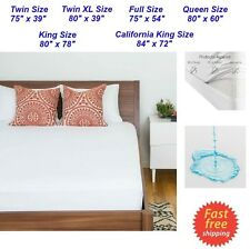 Zippered Waterproof Mattress Protector King Queen Full Twin Size Soft Bed Cover