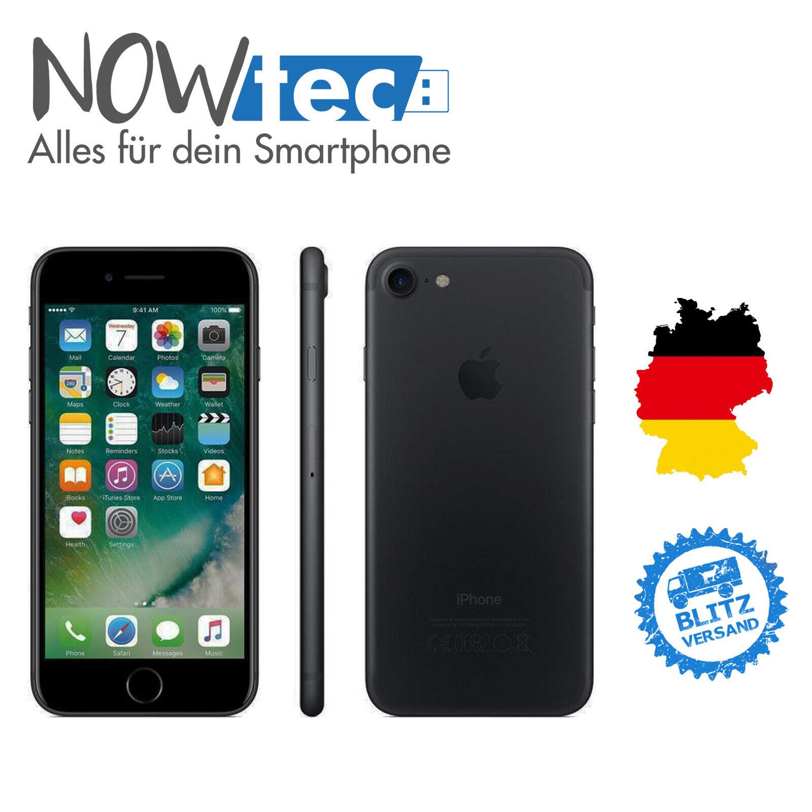 Apple iPhone 7 – 32GB -Schwarz WIE NEU (Ohne Simlock) mit Händlergarantie