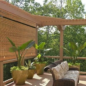 details about outdoor roll up shade bamboo window blinds exterior shutters patio shade roller