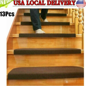 Stair Mat Carpet Stair Treads Non Skid Rubber Back Washable Mat   Washable Carpet Stair Treads   Removable Washable   Machine Washable   Rubber Backing   Slip Resistant   Self Adhesive