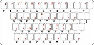 Sticker Decal Keyboard Red Letter Transparent Anglo Saxon Runes Futhark Ebay